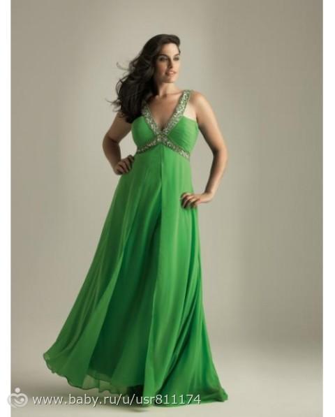 Вечерние платья для полных женщин из шифона