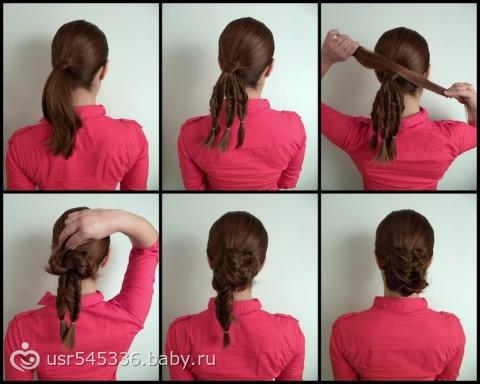 Прически с шпильками на средние волосы
