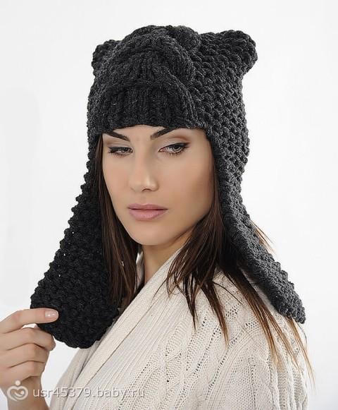 уланова вязание, схема вязания двойной шапки, вязание спицами фото схемы и мужские вязаные