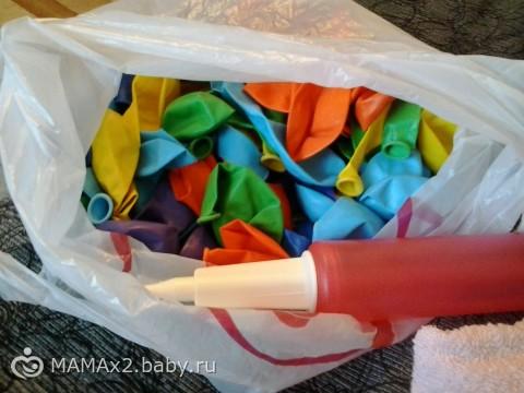 Радуга-дуга из шаров. Как устроить праздник для детей.