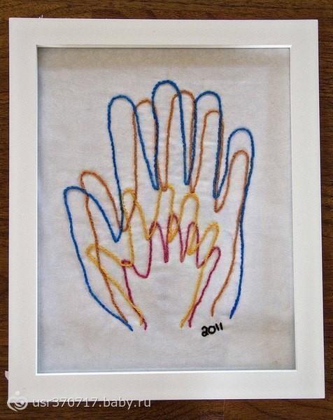 Как сделать отпечаток ручки красками