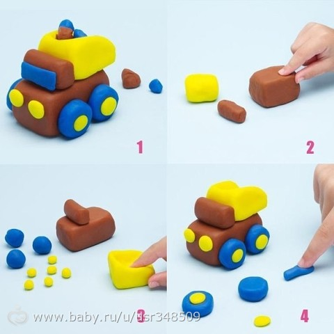 Простая поделка из пластилина для малышей