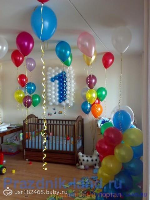Как украсить комнату своими руками на 1 годик ребенку
