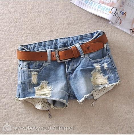 Как сделать потертости на джинсовых шортах своими руками