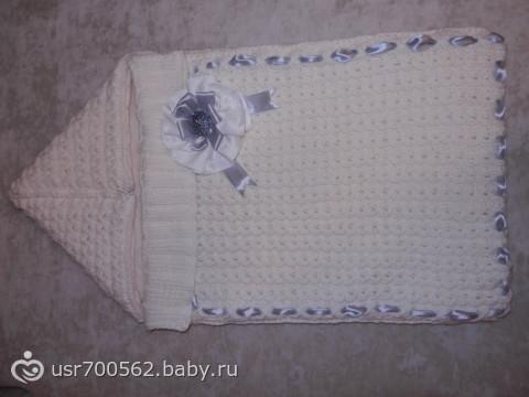 Вязание конверт на выписку фото