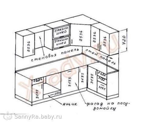 Кухня чертежи схемы раскрой