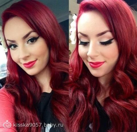 Блин девчонки хочу красные волосы