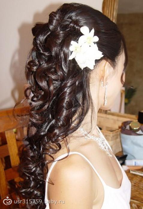 c свадебные прически на длинные волосы