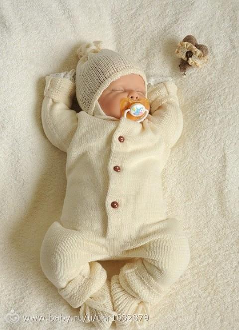 Связать комбинезон для новорожденного своими руками