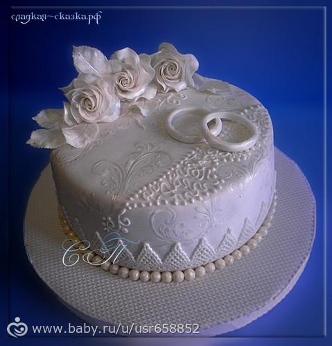 Идеи тортов на серебряную свадьбу фото