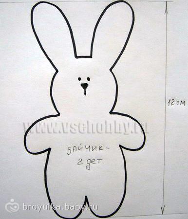 Выкройка зайца своими руками из ткани