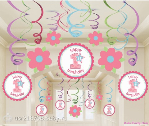 Как украсить первый день рождения своими руками