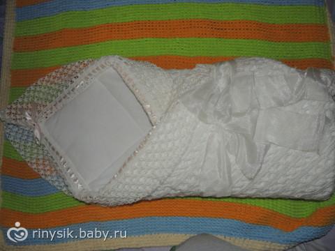 Вязаный плед своими руками для новорожденного на выписку - Rwxchip.ru