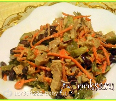 салат обжорка с мясом рецепт с фото