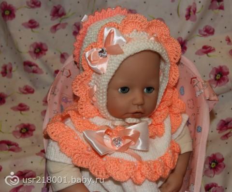 Связать красивую шапочку для новорожденного спицами