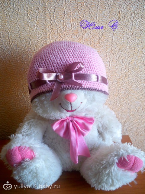 Летние шапочки и повязка для малышек. - Рукоделие - на бэби.ру