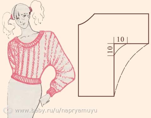 Платье своими руками без выкройки с цельнокроеным рукавом