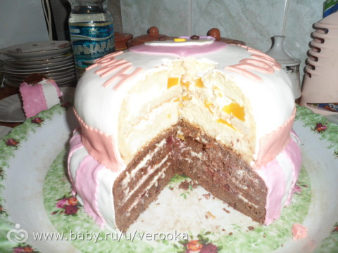 Вкусный торт под мастику рецепт
