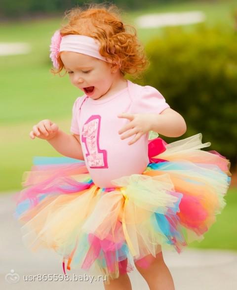 Платье из фатина для девочки 1 года своими руками