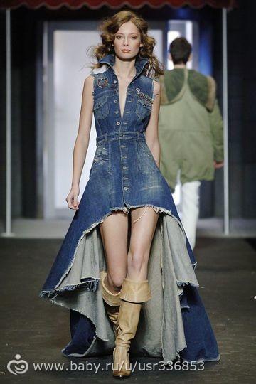Платья из джинсовой ткани всегда в моде. . Это может быть стильное платье-рубашка, элегантное