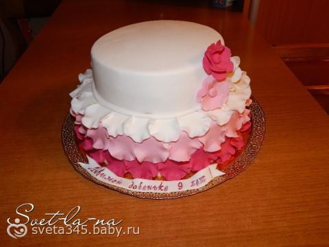 Тортик для девочки на 9 лет для всех