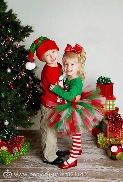 Как сделать детскую фотографию новогодней