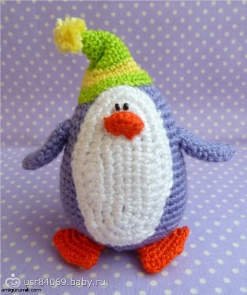 Пингвин амигуруми ОПИСАНИЕ