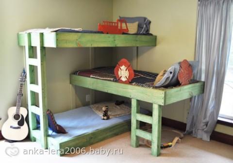 Детская угловая кровать для двоих детей своими руками - 3dfuse.ru