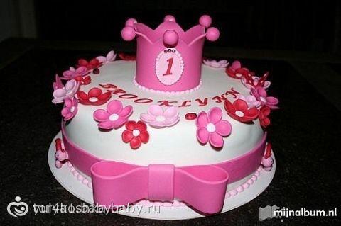 Торт из мастики для девочки 2 года своими руками