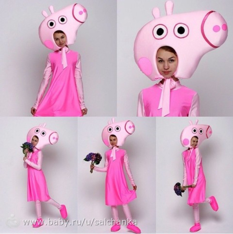 Как сделать свинку пеппу костюм