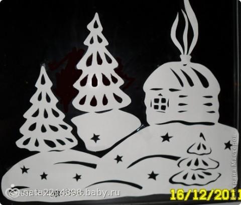 Шаблон елки для вырезания из бумаги, распечатать трафареты 203