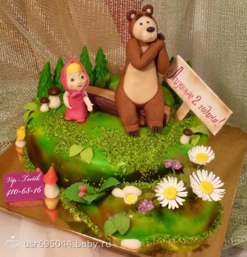Детский торт маша и медведь фото