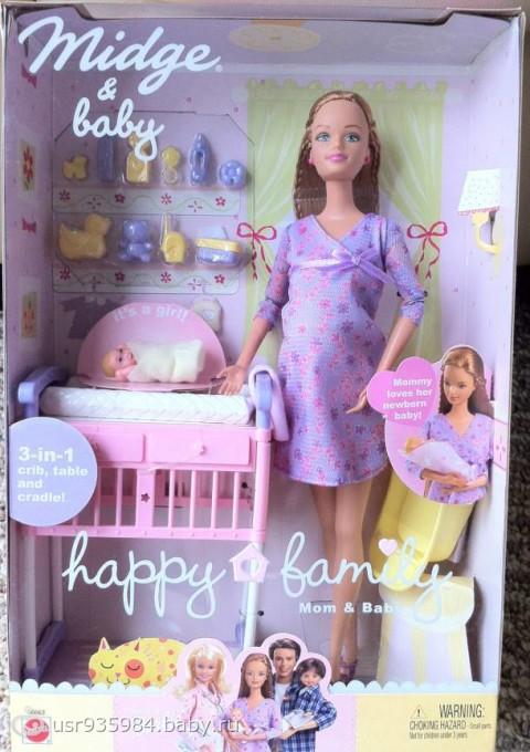 Беременная кукла с коляской и щенком купить - 891