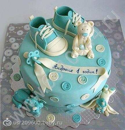 Торт на 1 годик для мальчика своими руками