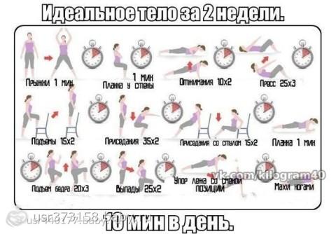 Упражнения для похудения всего тела в домашних условиях для женщин