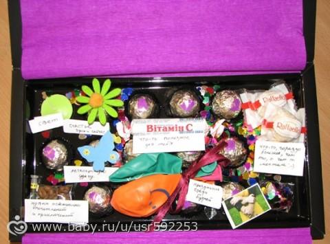 Подарок из коробки от конфет - Подарки и композиции из ...