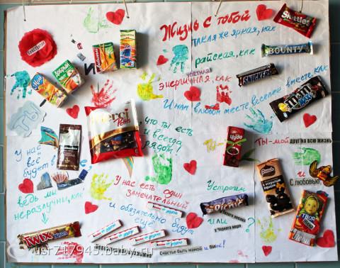 Как сделать плакат со сладостями для мамы