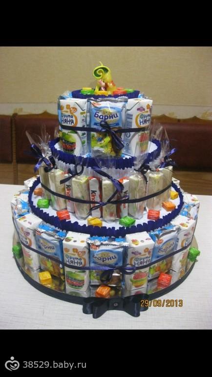 Торт из сока и конфет пошаговое для начинающих