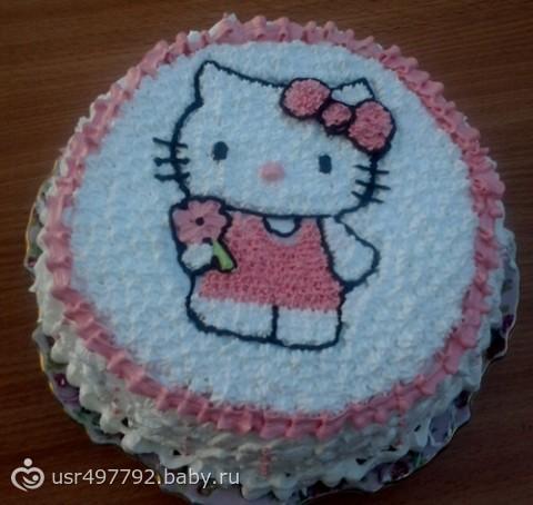 Как украсить торт для девочки на день рождения своими руками из крема 52