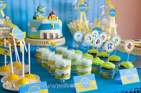 День рождения в стиле поли робокар своими руками 33