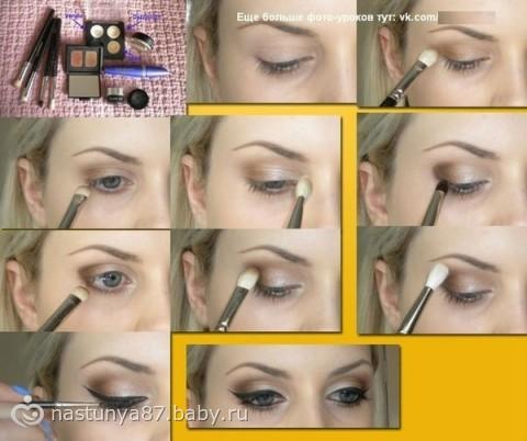 уроки макияжа в картинках для глаз
