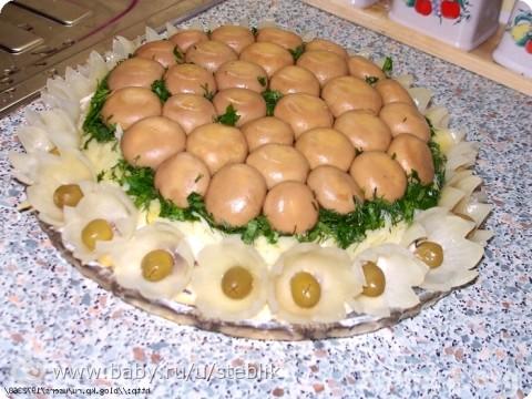 Салат лесная поляна грибами фото