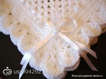 Одеяла для новорожденных вязанные спицами