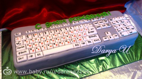 Фото торт-клавиатура