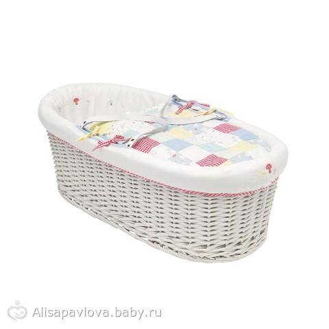 Плетеная корзина для младенца