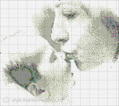 Схема вышивки мамина нежность
