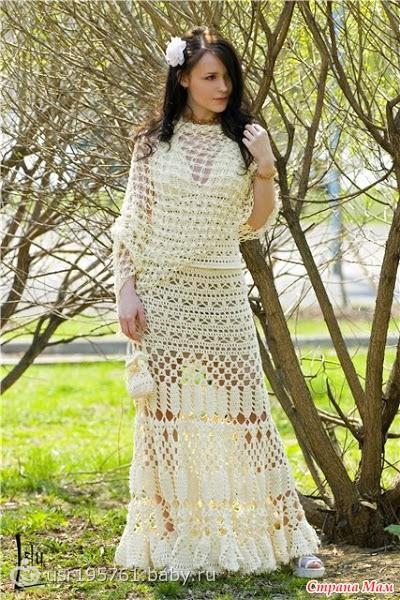 Длинные юбки вязанные крючком: boho_area.