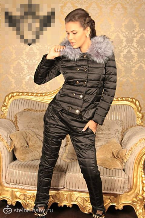 Купить женский костюм на синтепоне с мехом интернет магазин пуховики moncler женские