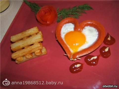 Завтрак для мужа на 14 февраля!