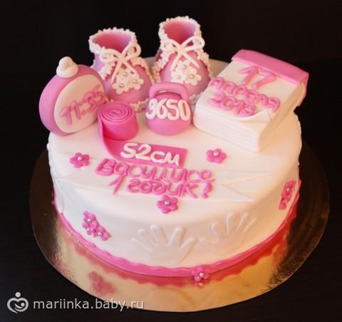 Торты для девочки 1 год фото